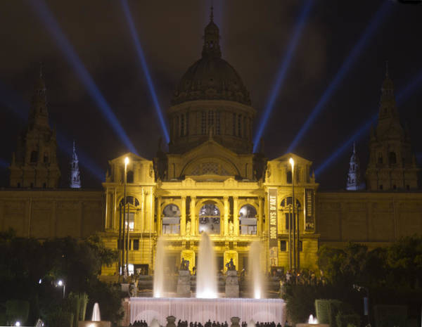 Photograph - Museu Nacional D'art De Catalunya Light Show by Nathan Rupert