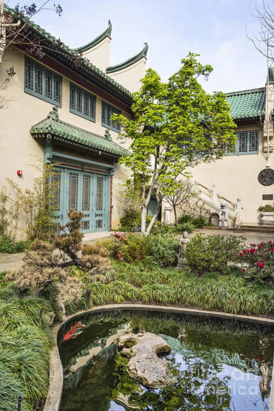 Wall Art - Photograph - Museum Courtyard - Beautiful Courtyard Of The Pacific Asia Museum In Pasadena. by Jamie Pham