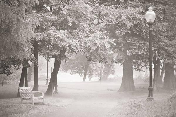 Mixed Media - Museum Park Fog by Trish Tritz