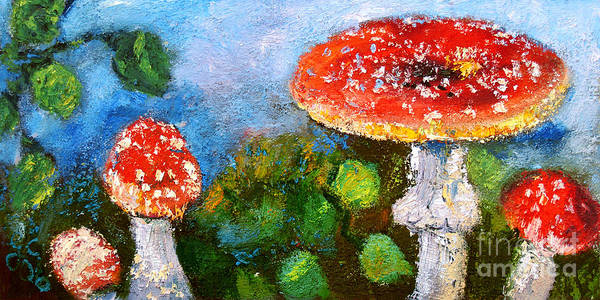 Painting - Mushroom Beauty Amanita Muscaria by Ginette Callaway