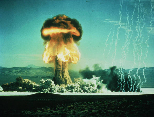 Nuclear Bomb Wall Art - Photograph - Mushroom Cloud From American Bomb Test by U.s. Navy/science Photo Library