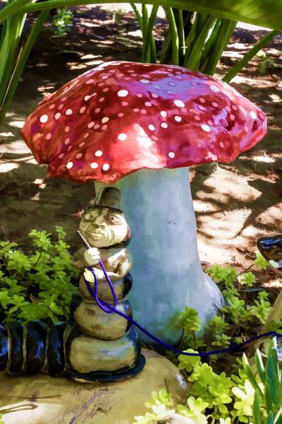 Digital Art - Mushroom Man by Photographic Art by Russel Ray Photos