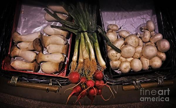 Scallion Photograph - Mushrooms In The Seville Market  by Mary Machare