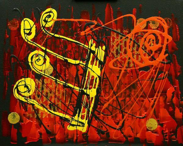Wall Art - Painting - Music 1 by Leon Zernitsky