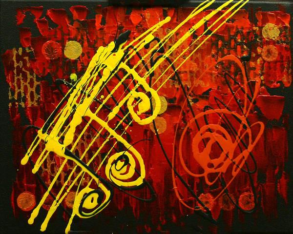 Wall Art - Painting - Music 2 by Leon Zernitsky
