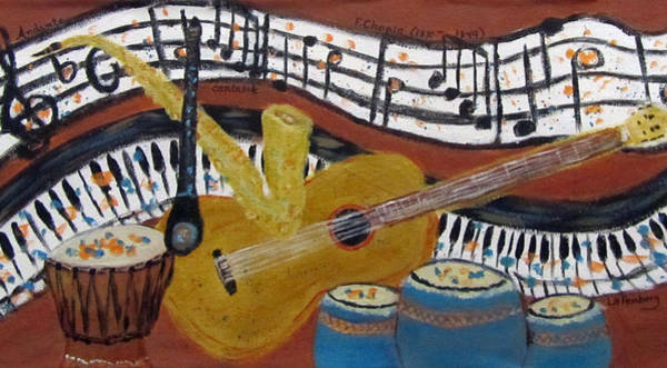 Painting - Music And Chopin by Linda Feinberg