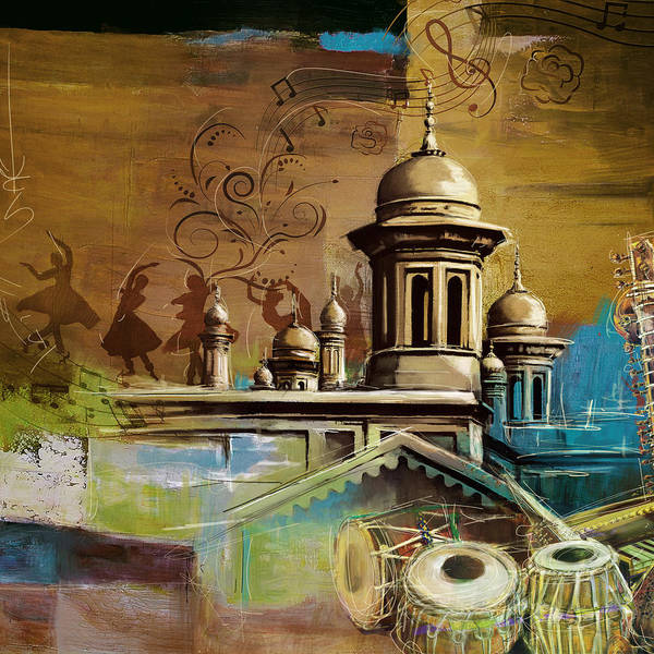 Wall Art - Painting - Music And Culture by Catf