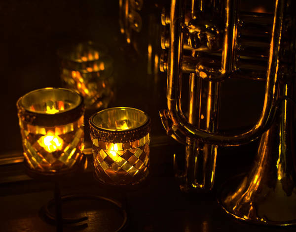 Photograph - Trumpet And Candlelight by Ginger Wakem