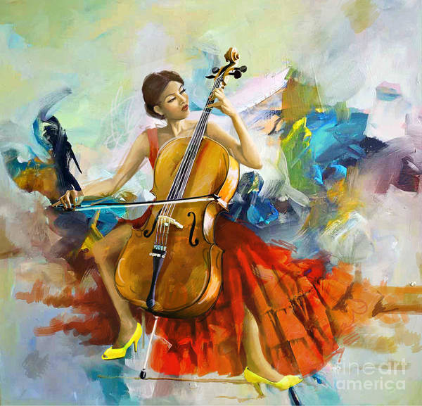 Flamenco Painting - Music Colors And Beauty by Corporate Art Task Force