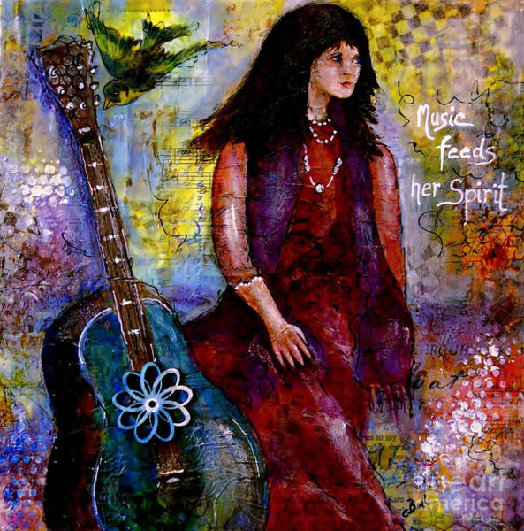 Painting - Music Feeds Her Spirit by Claire Bull