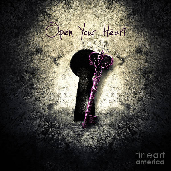 Wall Art - Digital Art - Music Gives Back - Open Your Heart by Geek N Rock