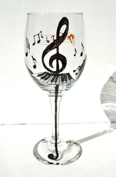 Wall Art - Glass Art - Music Glass by Pauline Ross