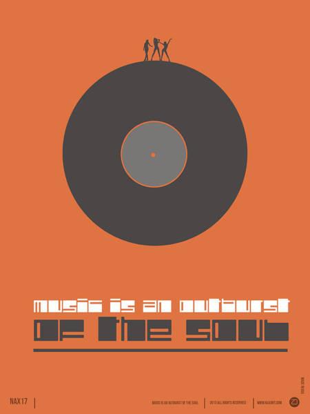 Wall Art - Digital Art - Music Is The Soul Poster by Naxart Studio