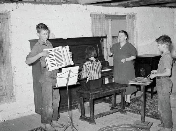 Glockenspiel Photograph - Music Lessons, 1940 by Granger