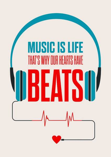 Wall Art - Digital Art - Music- Life Quotes Poster by Lab No 4 - The Quotography Department
