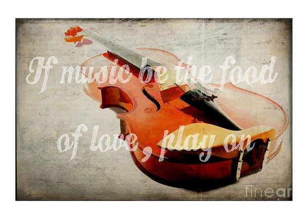Photograph - Music Lover Card by Edward Fielding