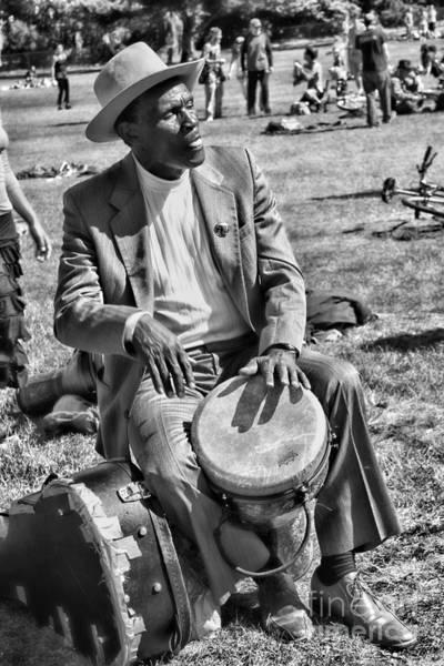 Photograph - Music Man On Hippie Hill By Diana Sainz by Diana Raquel Sainz