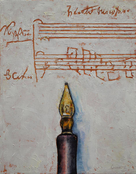 Manuscript Wall Art - Painting - Music by Michael Creese