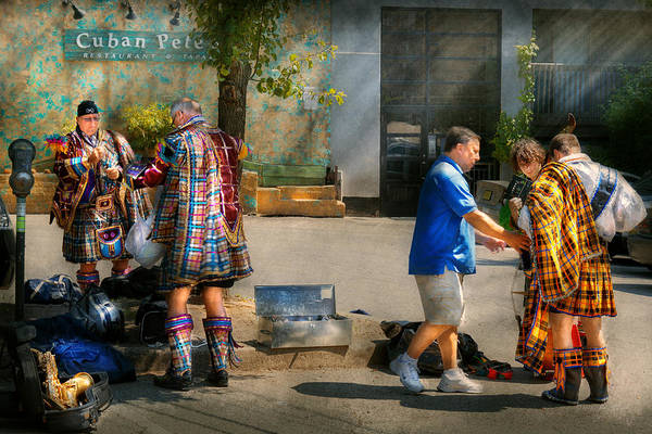 Photograph - Music - Mummers Preperation by Mike Savad