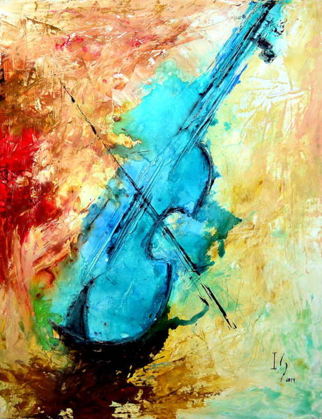 Sax Painting - Music Painting by Ivan Guaderrama