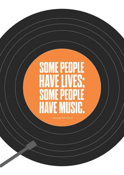 Wall Art - Digital Art - Music Quotes Typography Print Poster by Lab No 4 - The Quotography Department