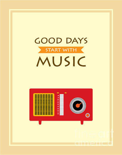 Wall Art - Digital Art - Music Radio Poster by Judilyn