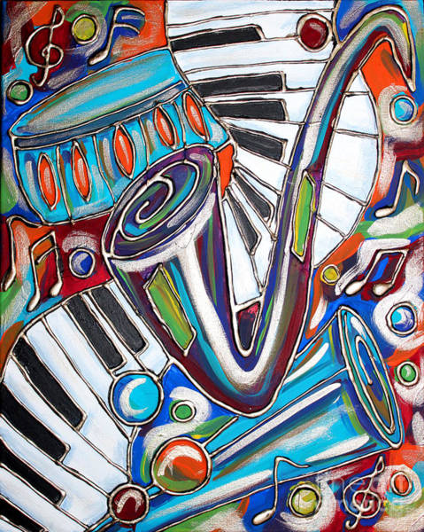 Piano Bar Painting - Music Time 2 by Cynthia Snyder