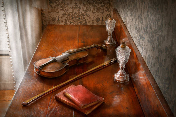 Wall Art - Photograph - Music - Violin - A Sound Investment  by Mike Savad