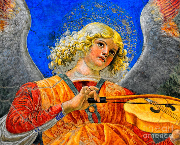 Musical Angel Basking In The Light Of Heaven 2 Art Print