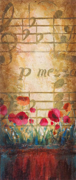 Sax Painting - Musical Garden Part 1 Of 2 by Christopher Clark