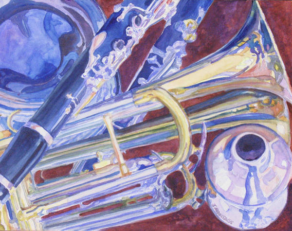 Clarinet Wall Art - Painting - Musical Reflections by Jenny Armitage