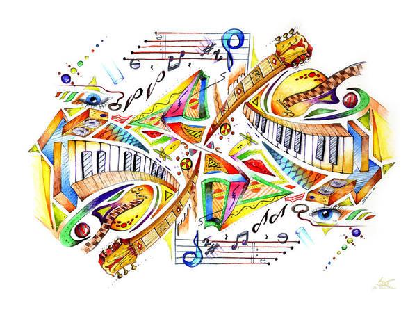 Mixed Media - Musicality by Sam Davis Johnson