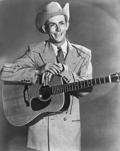 Single Person Wall Art - Photograph - Musician Hank Williams by Underwood Archives