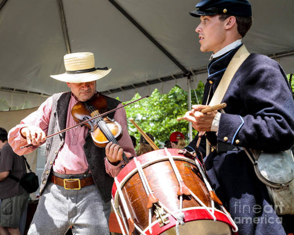 Photograph - Musicians In Period Attire Entertain At The 2007 Smithsonian Fol by William Kuta