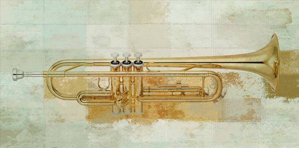 Gold Abstract Wall Art - Digital Art - Musikalis - J0881000997f3a by Variance Collections