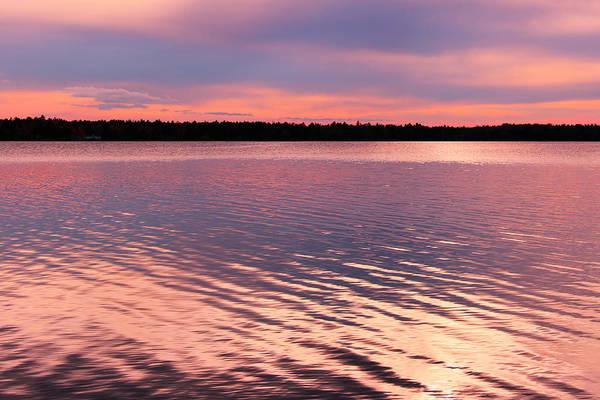 Photograph - Muskallonge Lake In The Pink by Rachel Cohen