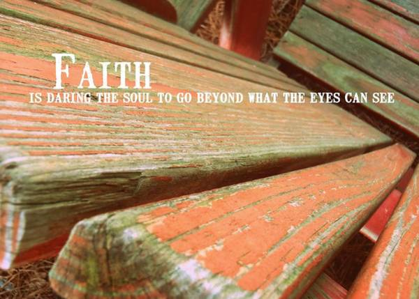 Photograph - Muskoka Chair Quote by JAMART Photography