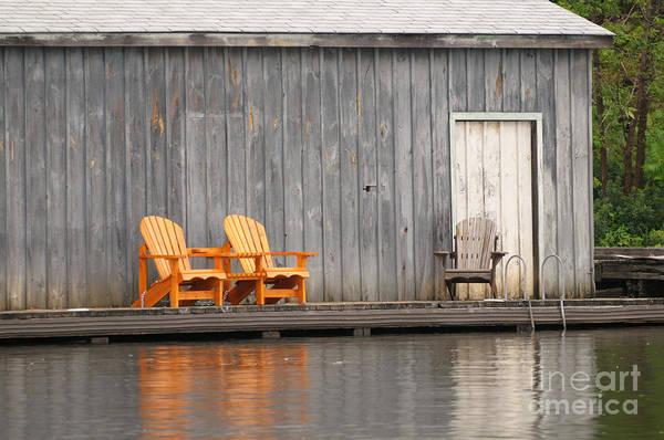 Photograph - Muskoka Chairs by Les Palenik