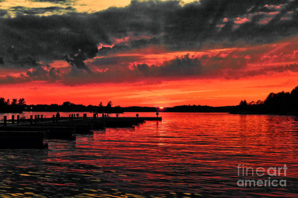 Photograph - Muskoka Sunset by Les Palenik