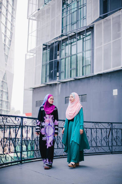 Muslim Women In Hijab In Discussion Art Print by Mikhaella Ismail