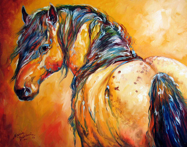 Painting - Mustang Appaloosa by Marcia Baldwin