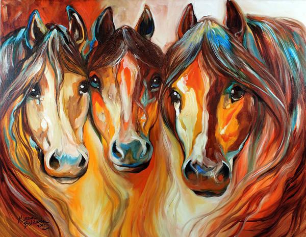 Painting - Mustang Gang  by Marcia Baldwin