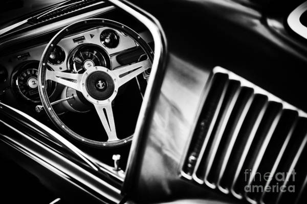 Ford Motor Company Photograph - Mustang Interior Monochrome by Tim Gainey