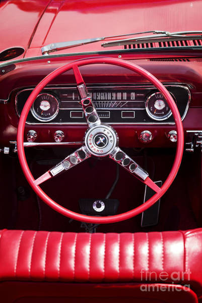 Ford Motor Company Photograph - Mustang Interior by Tim Gainey
