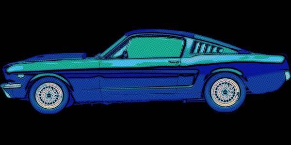 Classic Car Drawings Painting - Mustang Love by Florian Rodarte