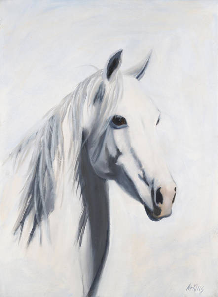 Quarter Horse Painting - Mustang Mama by Jack Atkins