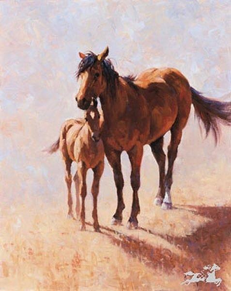 Digital Art - Mustang Mama by Jim Rey