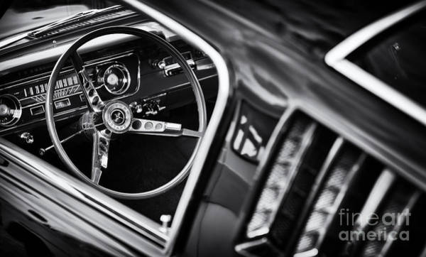 Ford Motor Company Photograph - Mustang Monochrome by Tim Gainey