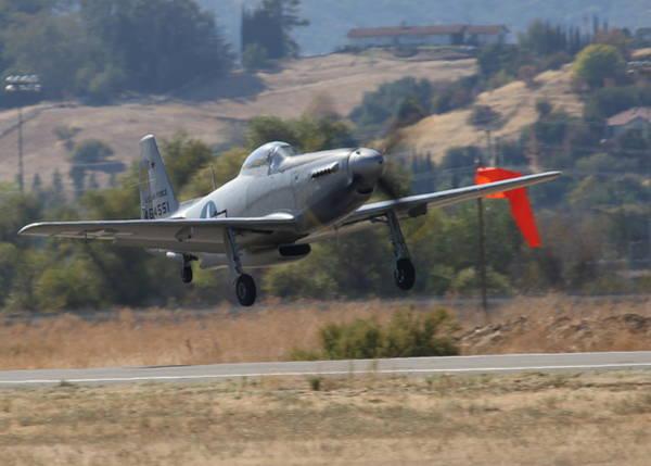 Photograph - Mustang P51h Take Off N551h by John King