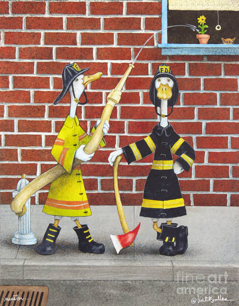 Wall Art - Painting - Muster... by Will Bullas